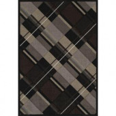 United Weavers Journey Black 7 ft. 10 in. x 11 ft. 2 in. Area Rug