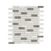 Jeffrey Court Valor Moon 11 in. x 12 in. Glass/White Marble Mosaic Wall Tile