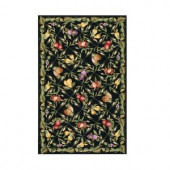 Home Decorators Collection Fruit Garden Black 8 ft. 9 in. x 11 ft. 9 in. Area Rug