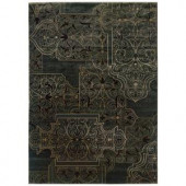 LR Resources Scroll-Work Garden 7 ft. 10 in. x 11 ft. 2 in. Plush Indoor Area Rug