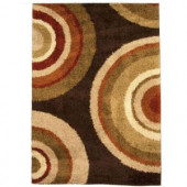 Orian Rugs Eclipse Brown 79 in. x 116 in. Area Rug