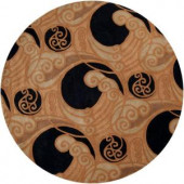 Artistic Weavers Piacenza Black 8 ft. Round Area Rug