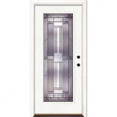 Feather River Doors Preston Patina Full Lite Primed Smooth Fiberglass Entry Door