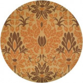 Aloe Beige 8 ft. Round Area Rug