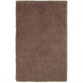 LR Resources Senses Shag Tri-Mocha 5 ft. x 7 ft. 9 in. Plush Indoor Area Rug