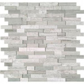 MS International White Quarry Splitface 12 in. x 12 in. Marble Mesh-Mounted Mosaic Wall Tile