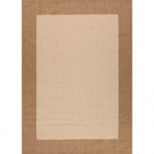 Hampton Bay Brown and Beige Border 7 ft. 7 in. x 10 ft. 10 in. Indoor Outdoor Area Rug