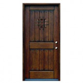 Main Door Rustic Mahogany Type Prefinished Distressed Solid Wood Speakeasy Entry Door
