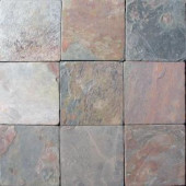 MS International 4 In. x 4 In. Tumbled Mutli Color Slate Floor & Wall Tile