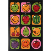 LA Rug Inc. Smiley Fruitti Multi Colored 19 in. x 19 in. Accent Rug