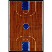 LA Rug Inc. Fun Time Basketball Court Multi Colored 39 in. x 58 in. Area Rug