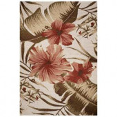 Kas Rugs Hibiscus Ivory 8 ft. 1 in. x 11 ft. 2 in. Area Rug