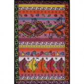 LA Rug Inc. Supreme Sassy Multi Colored 39 in. x 58 in. Area Rug