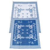 Fireside Patio Mats Melting Glacier Blue 9 ft. x 12 ft. Polypropylene Indoor/Outdoor Reversible Patio/RV Mat