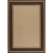 Hampton Bay Brown Border 7 ft. 7 in. x 10 ft. 10 in. Indoor and Outdoor Area Rug