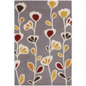 Chandra Inhabit Grey/Yellow 7 ft. 9 in. x 10 ft. 6 in. Indoor Area Rug