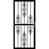 Grisham 309 Series Heritage 30 in. x 80 in. Steel Black Prehung Security Door