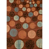 United Weavers Roundel Blue 5 ft. 3 in. x 7 ft. 2 in. Area Rug