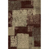 Natco Encore Nadya Dark Wine 7 ft. 10 in. x 10 ft. 10 in. Area Rug