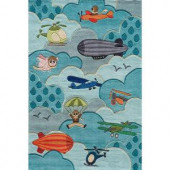Momeni Caprice Collection Sky 4 ft. x 6 ft. Area Rug