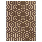 Kas Rugs Eloquent Lines Mocha/Beige 6 ft. 6 in. x 9 ft. 6 in. Area Rug