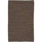 Chandra Saket Brown 3 ft. 6 in. x 5 ft. 6 in. Indoor Area Rug