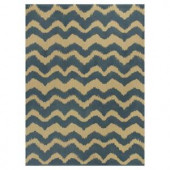 Kas Rugs Natural Wave Blue/Beige 8 ft. x 10 ft. Area Rug