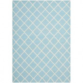 Safavieh Dhurries Light Blue/Ivory 6 ft. x 9 ft. Area Rug