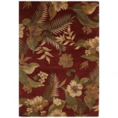 Kas Rugs Hibiscus Garden Ruby 8 ft. x 10 ft. 6 in. Area Rug
