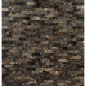 MS International Emperador Splitface 12 in. x 12 in. Brown Marble Mesh-Mounted Mosaic Tile