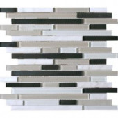 MS International Ivory Palace Interlocking 12 in. x 12 in. Glass/Stone Blend Mesh-Mounted Mosaic Wall Tile