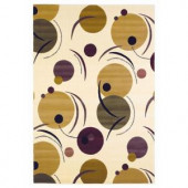 Kas Rugs Circle of Dots Ivory 7 ft. 7 in. x 10 ft. 10 in. Area Rug