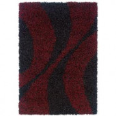 LR Resources LOL Flame 5 ft. 3 in. x 7 ft. 6 in. Plush Indoor Area Rug