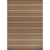 Hampton Bay Green and Brown Stripe 7 ft. 7 in. x 10 ft. 10 in. Indoor Outdoor Area Rug