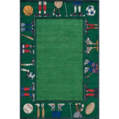 Momeni Caprice Collection Grass 8 ft. x 10 ft. Area Rug