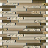 EPOCH Spectrum Desert Gold-1663 Granite And Glass Blend 12 in. x 12 in. Mesh Mounted Floor & Wall Tile (5 Sq. Ft./Case)