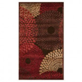 Nourison Graphic Illusions Brown 2 ft. 3 in. x 3 ft. 9 in. Scatter Rug