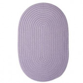 Colonial Mills Boca Raton Amethyst 8 ft. x 11 ft. Oval Braided Accent Rug