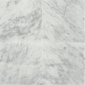 Daltile Natural Stone Collection Carrara White 12 in. x 12 in. Polished Marble Floor and Wall Tile (10 sq. ft. / case)