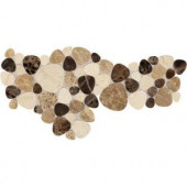 Fashion Accents Pebble Brown 12 in. x 12 in. x 8mm Mosaic Accent Wall Tile (10 sq. ft. / case)