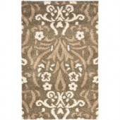 Safavieh Shag Smoke/Beige 5.3 ft. x 7.5 ft. Area Rug