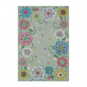 Sams International Secret Garden Light Green 3 ft. x 5 ft. Area Rug