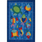 LA Rug Inc. Olive Kids Somethin' Fishy Multi Colored 39 in. x 58 in. Area Rug