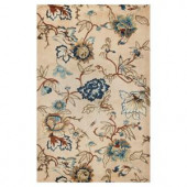 Kas Rugs Blue Floral Arrangement Blue 2 ft. 6 in. x 4 ft. 2 in. Area Rug