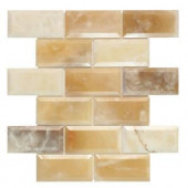 Jeffrey Court Beveled Onyx 12 in. x 12 in. Mosaic Wall Tile