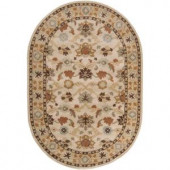 Artistic Weavers John Beige 6 ft. x 9 ft. Oval Area Rug