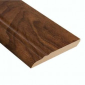 Home Legend High Gloss Monterrey Walnut 12.7 mm Thick x 3-13/16 in. Wide x 94 in. Length Laminate Wall Base Molding