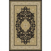Home Dynamix Bazaar Trim HD2412 Black-Ivory 7 ft. 10 in. x 10 ft. 1 in. Area Rug