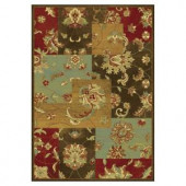 Kas Rugs Artistic Accent Mocha 5 ft. 3 in. x 7 ft. 7 in. Area Rug