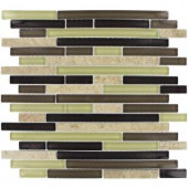 MS International Aspen Interlocking 12 in. x 12 in. Mosaic Glass-Stone Floor and Wall Tile